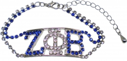 View Buying Options For The Zeta Phi Beta Double Color Rhinestone Ladies Bracelet