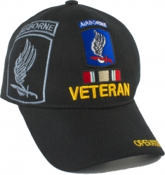 View Buying Options For The 173rd Airborne OIF Veteran Ribbon Shadow Mens Cap
