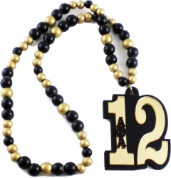 View Buying Options For The Alpha Phi Alpha Line #12 Mirror Wood Color Bead Tiki Necklace
