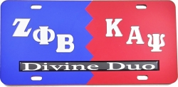 View Buying Options For The Zeta Phi Beta + Kappa Alpha Psi Divine Duo Split License Plate
