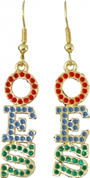 View Buying Options For The Order of the Eastern Star Austrian Crystal Earrings