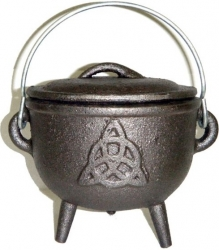 View Buying Options For The Charmed Symbol Cast Iron Cauldron with Lid Top