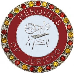 View Buying Options For The Heroines of Jericho Single Snap Button with Crystals