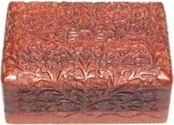 View Buying Options For The Carved Flower & Vine Design Wood Box