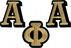 View Buying Options For The Alpha Phi Alpha Individual Letter Iron-On Patch Set