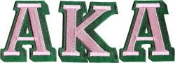 View Buying Options For The Alpha Kappa Alpha Iron-On Patch Set