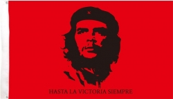 View Buying Options For The Che Guevara Hasta Textile Flag / Fabric Poster
