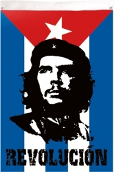 View Buying Options For The Che Guevara Revolución Textile Cuban Flag / Fabric Poster
