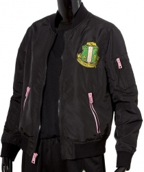 View Buying Options For The Alpha Kappa Alpha Satin Ladies Bomber Jacket