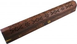 View Buying Options For The Jumbo Carved Coffin Brass Inlay Ash Catcher Incense Stick & Cone Holder