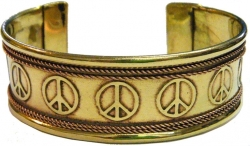 View Buying Options For The Peace Sign Symbols Copper Cuff Bracelet
