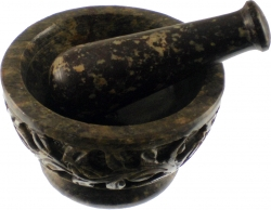 View Buying Options For The Carved Soapstone Flowers & Vines Mortar & Pestle