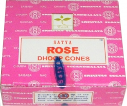View Buying Options For The Satya Sai Baba Fresh Rose Boxed Incense Dhoop Cones [Pre-Pack]