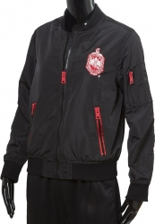 View Buying Options For The Delta Sigma Theta Satin Ladies Bomber Jacket