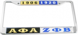 View Buying Options For The Alpha Phi Alpha + Zeta Phi Beta Split License Plate Frame