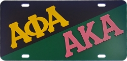 View Buying Options For The Alpha Phi Alpha + Alpha Kappa Alpha Split License Plate