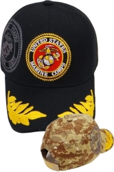 View Buying Options For The Marines Shield Scramble Eggs Shadow Mens Cap