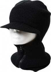 View Buying Options For The Plain Visor Billed Zippered Mens Face Ski Mask