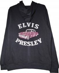 View Buying Options For The Elvis Presley Pink Caddy Rhinestone Ladies Hoodie Jacket