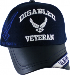 View Buying Options For The Disabled U.S. Air Force Veteran Vinyl Bill Shadow Mens Cap