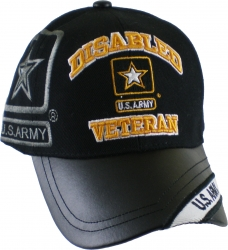 View Buying Options For The Disabled U.S. Army Star Veteran Vinyl Bill Shadow Mens Cap