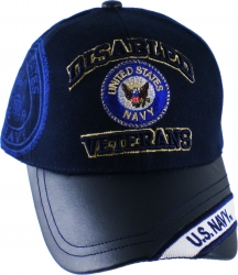 View Buying Options For The Disabled U.S. Navy Veteran Vinyl Bill Shadow Mens Cap