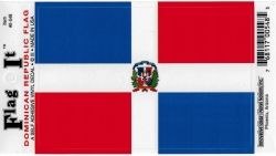 View Buying Options For The Dominican Republic Flag Car Decal Sticker [Pre-Pack]