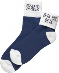 View Buying Options For The Zeta Phi Beta Fold Down Ladies Pair Ankle Socks