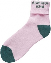View Buying Options For The Alpha Kappa Alpha Fold Down Ladies Ankle Socks