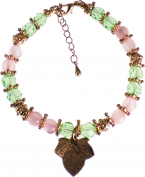 View Buying Options For The Alpha Kappa Alpha Ivy Leaf Charm Crystal Stone Bracelet