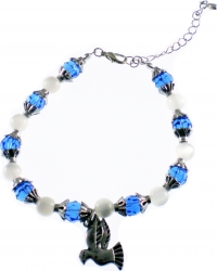 View Buying Options For The Zeta Phi Beta Dove Charm Crystal Stone Bracelet