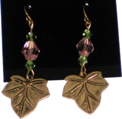 View Buying Options For The Alpha Kappa Alpha Ivy Leaf Charm Crystal Stone Earrings