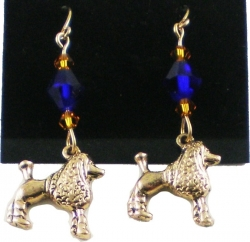 View Buying Options For The Sigma Gamma Rho Poodle Charm Crystal Stone Ladies Earrings