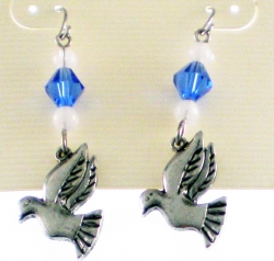 View Buying Options For The Zeta Phi Beta Dove Charm Crystal Stone Earrings