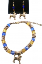 View Buying Options For The Sigma Gamma Rho Charm Crystal Stone Earrings & Bracelet Set