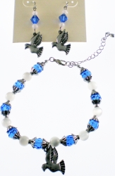 View Buying Options For The Zeta Phi Beta Charm Crystal Stone Earrings & Bracelet Set