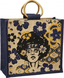 View Buying Options For The Sigma Gamma Rho Afrocentric Strong Woman Mini Jute Gift Bag