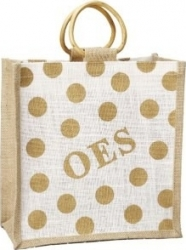 View Buying Options For The Eastern Star Polka Dot Mini Jute Gift Bag