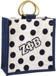 View Buying Options For The Zeta Phi Beta Polka Dot Mini Jute Gift Bag