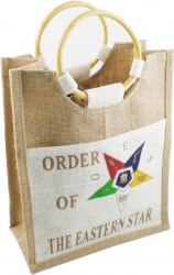 View Buying Options For The Eastern Star Ladies Pocket Jute Shopping Bag
