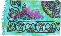View Buying Options For The Celtic Knot Mandala Print Sarong Wrap
