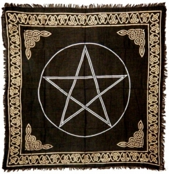 View Buying Options For The Pentagram Altar Table Cloth