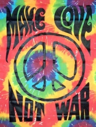 View Buying Options For The Make Love Not War Sunburst Fabric Wall Hanging