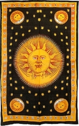 View Buying Options For The Gold Sun & Moon Bedspread Cloth Tapestry
