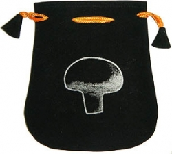 View Buying Options For The Mushroom Double Sided Drawstring Velvet Pouch/Bag [Pre-Pack]