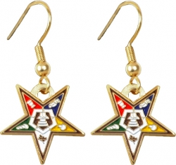View Buying Options For The Eastern Star Symbol Cut-Out Ladies Earrings