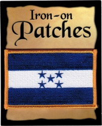 View Buying Options For The Honduras Flag Iron-On Patch [Pre-Pack]