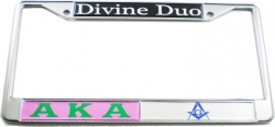 View Buying Options For The Alpha Kappa Alpha + Mason Divine Duo Split License Plate Frame