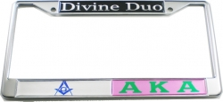 View Buying Options For The Mason + Alpha Kappa Alpha Divine Duo Split License Plate Frame