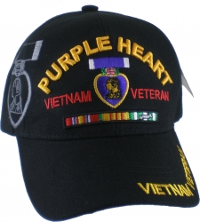 View Buying Options For The Purple Heart Vietnam Veteran Ribbon Shadow Mens Cap